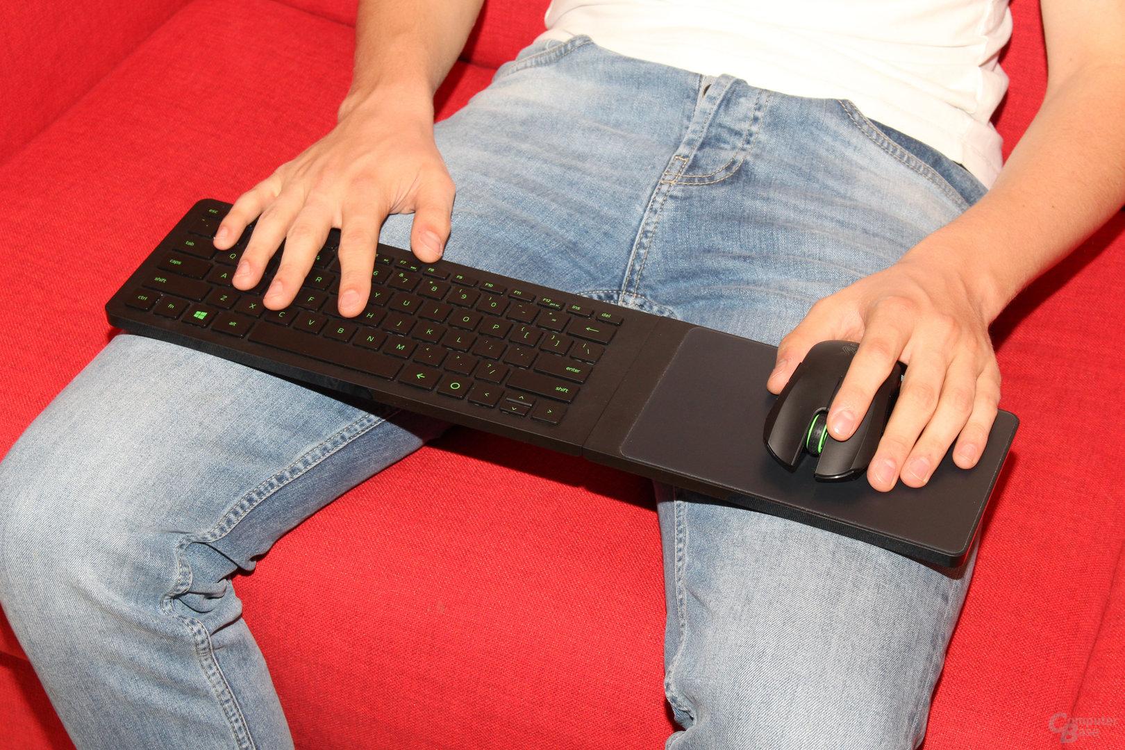 Das starre Mauspad verhindert den Einsatz durch Linkshänder