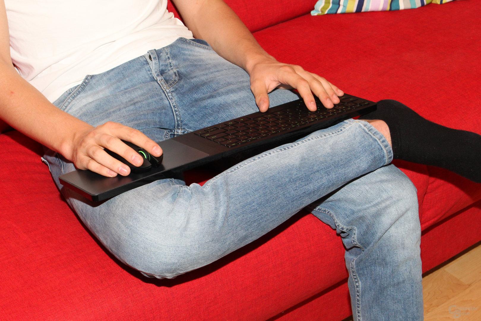 Größe und Gewicht erlauben mehrere Sitzpositionen