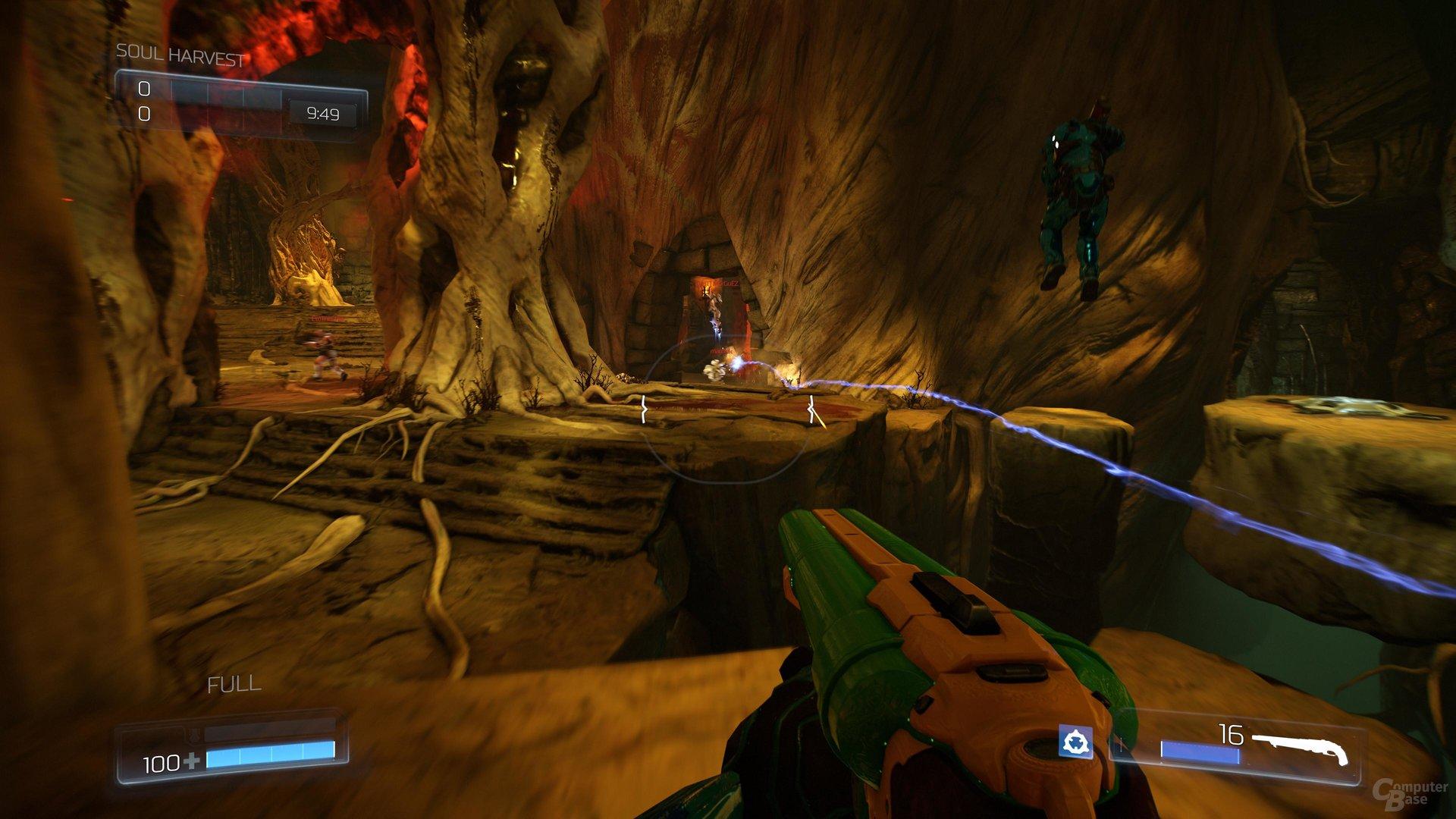 Bunte Waffen und schnelle Gefechte: Im Kern macht Doom Spaß