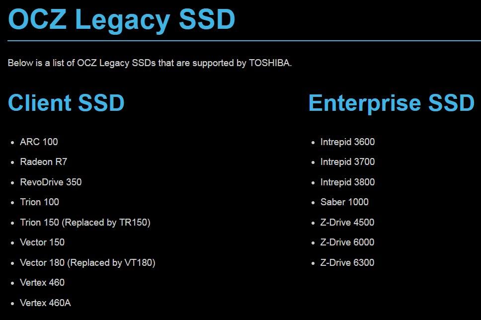 Der Großteil der OCZ-SSDs sind nur noch Altlast