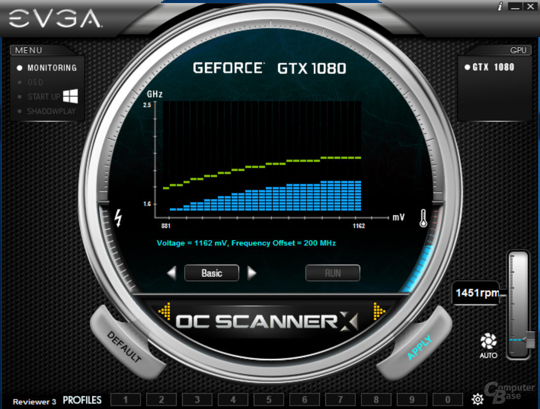 EVGA Precision X OC – Basic-Offset-modus