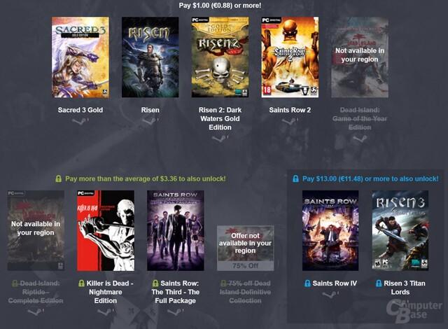 Das Deep-Silver-Bundle bietet gute Spiele auf