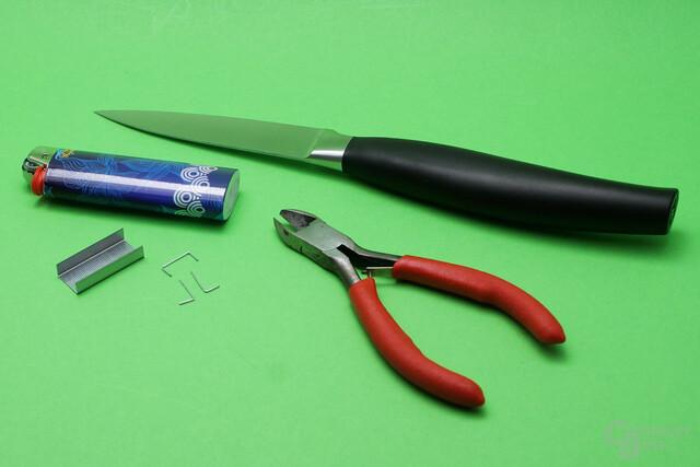 Benötigtes Werkzeug zum Sleeven modularer Kabel