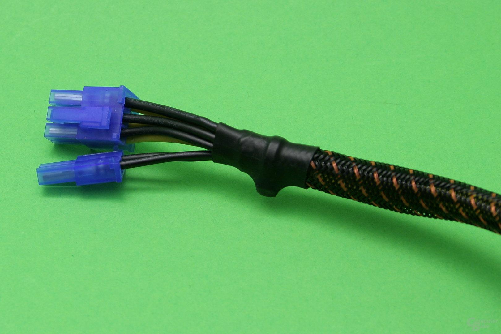 PCI-E-Anschlusskabel: Sleeve muss entfernt werden