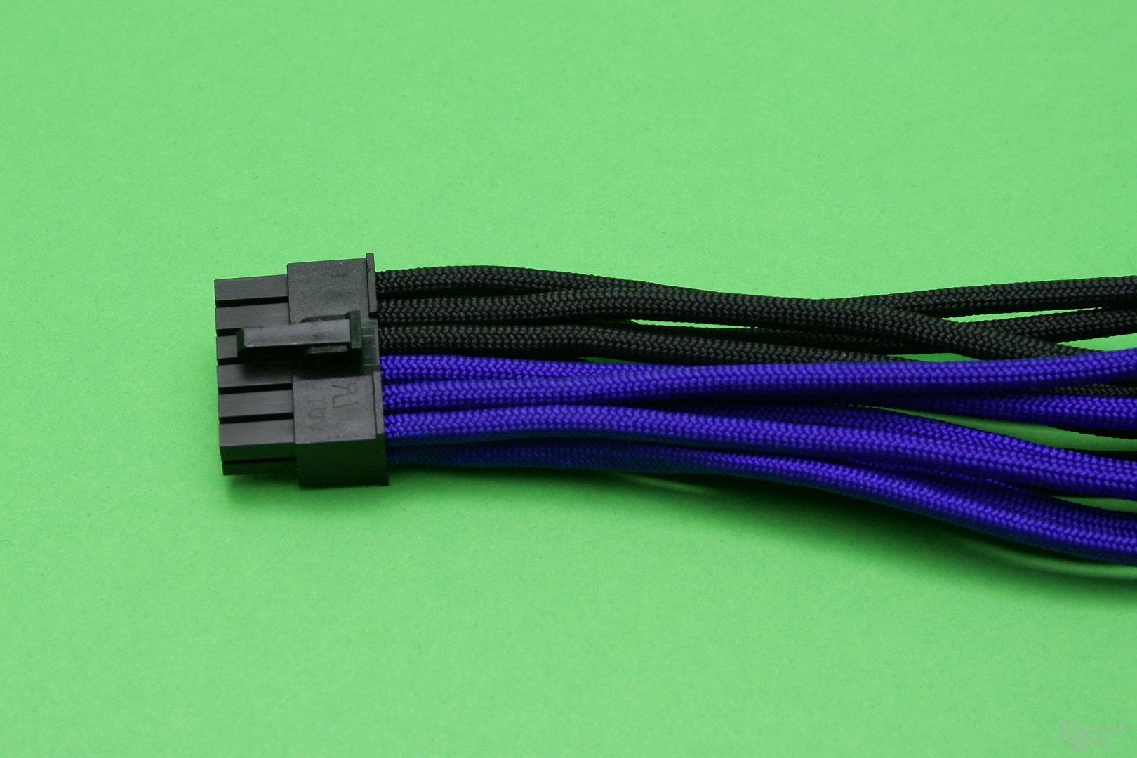 PCIe-Anschlusskabel selbst gesleevt: Netzteilstecker