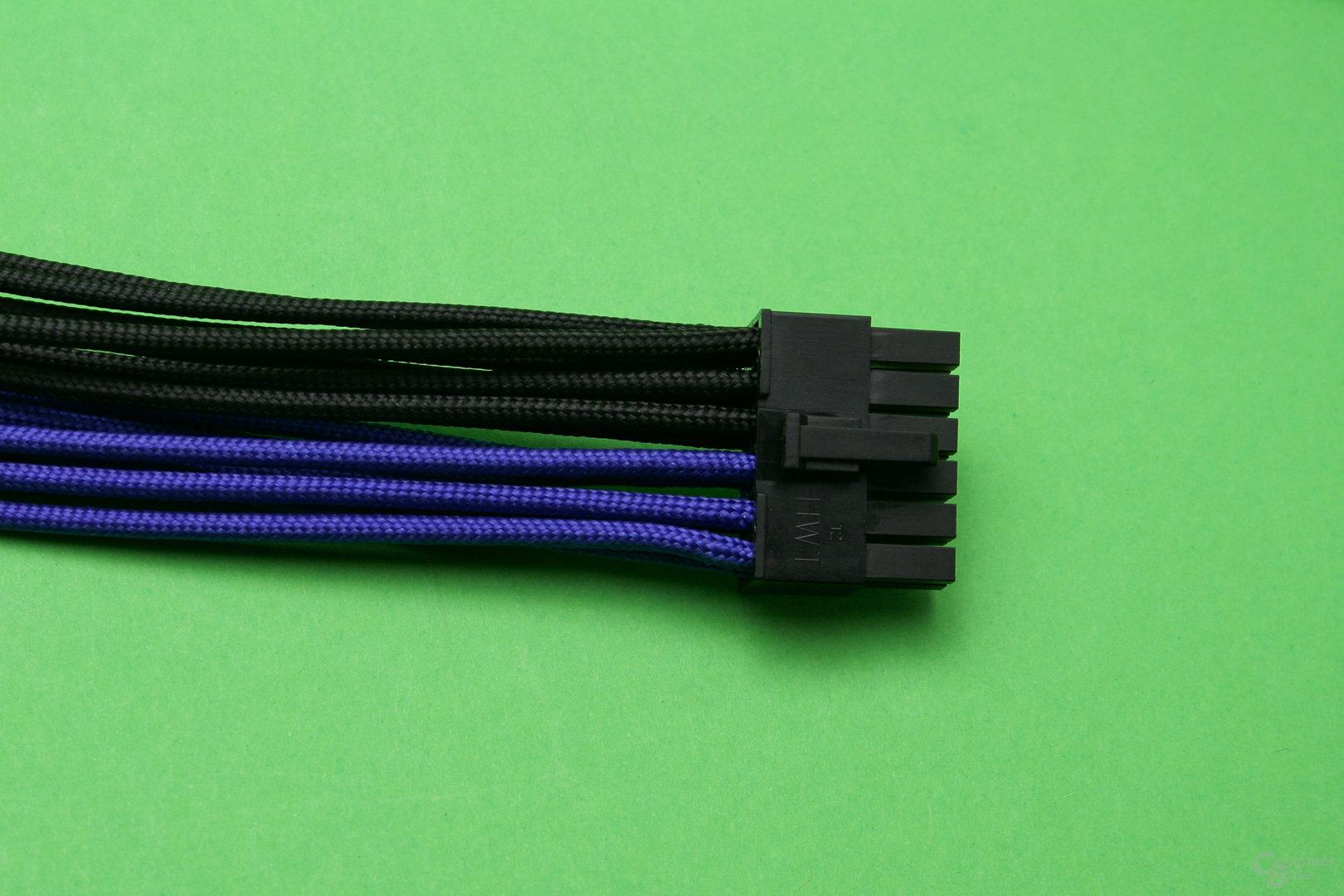 CableMod PCIe-Anschlusskabel: Netzteilstecker