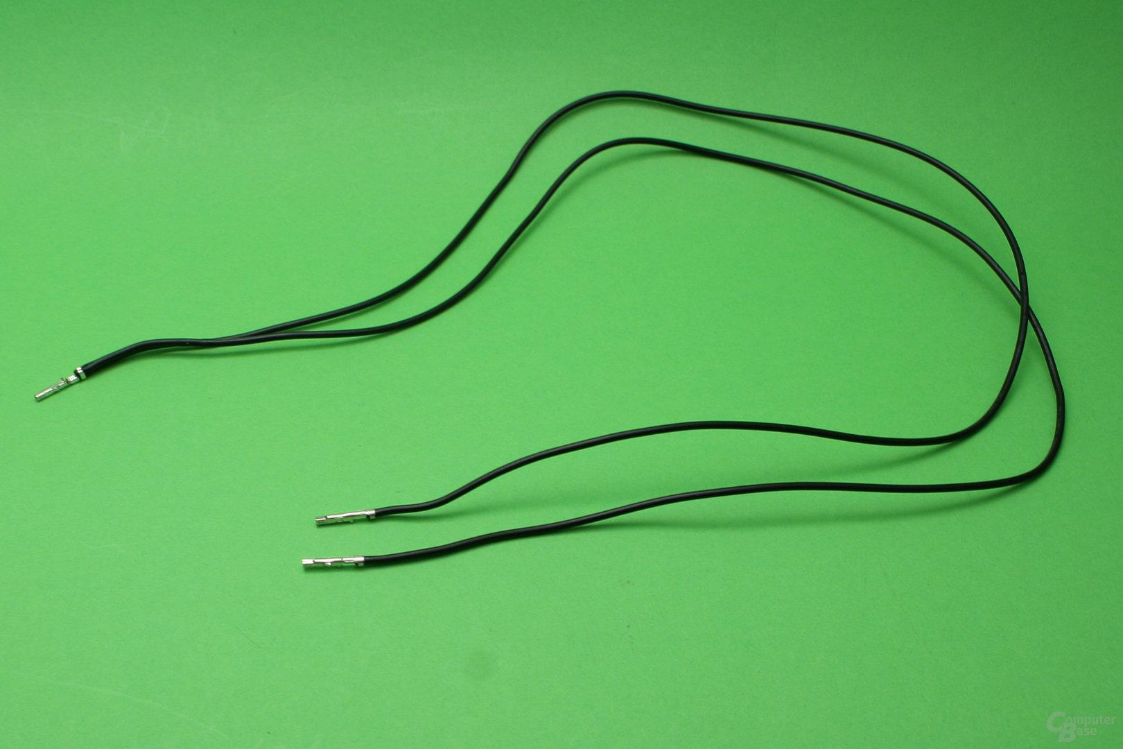 Y-Kabel: Ein Pin mit zwei Litzen führt zu zwei Enden