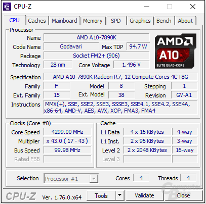 AMD A10-7890K im Turbo-Takt