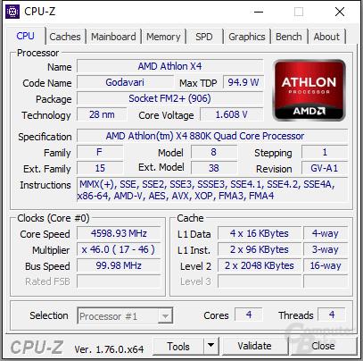 AMD Athlon X4 880K übertaktet