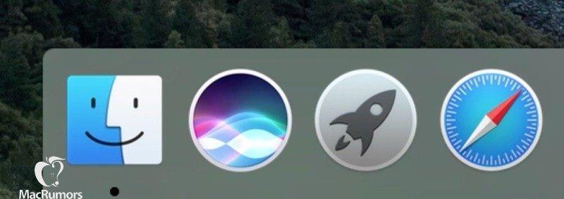 Siri-Docksymbol