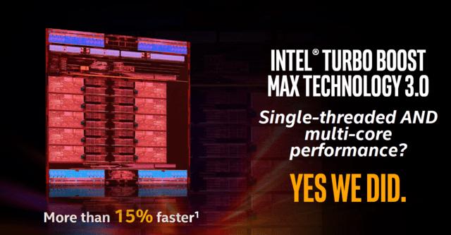Intel Turbo Boost 3.0 verspricht über 15 Prozent mehr Leistung