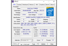 Intel Core i7-6800K im maximalen Turbo 2.0