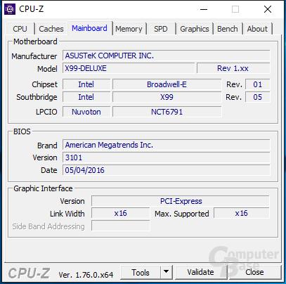 """""""Altes"""" Asus X99-Deluxe mit neuem BIOS und Core i7-6950X"""