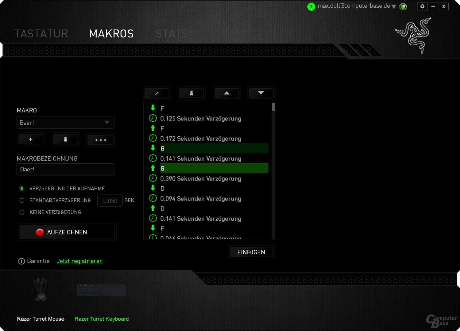 Der Makro-Editor ist funktionsstark und einfach zu bedienen