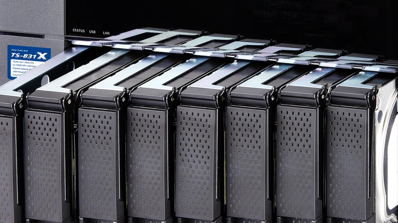 QNAP TS-831X: Quad-Core-NAS mit zwei 10-GbE-SFP+-Ports für 8 HDDs