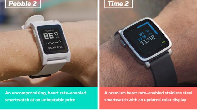 Pebble 2 und Pebble Time 2: Neue Smartwatches nun mit Herzfrequenzsensor