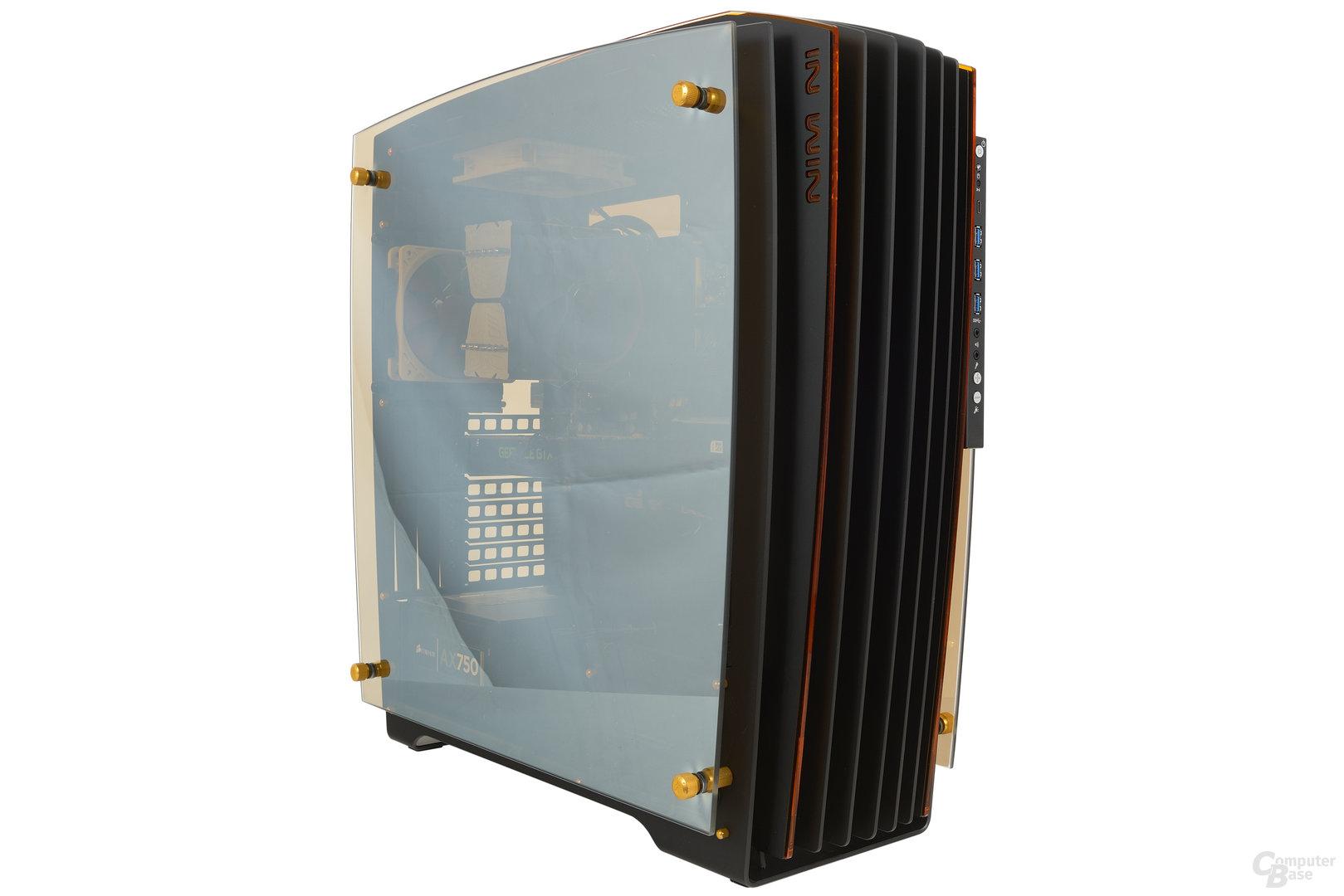 In Win H-Frame 2.0 – Testsystem mit Glasseitenteil