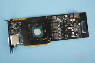 Das PCB der Inno3D ist vergleichweise schlank