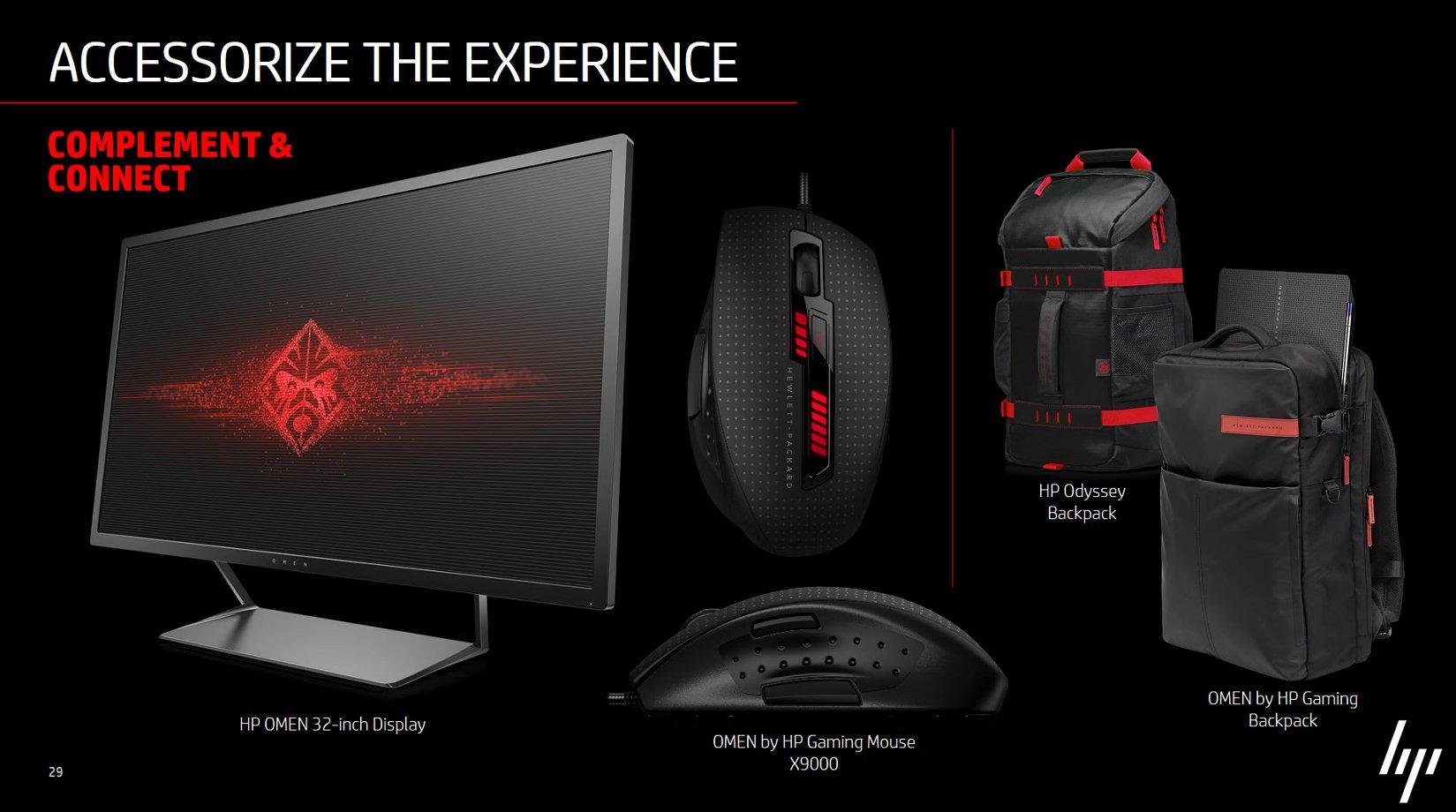 Der HP Omen 32-Zoll-Display und Gaming-Zubehör