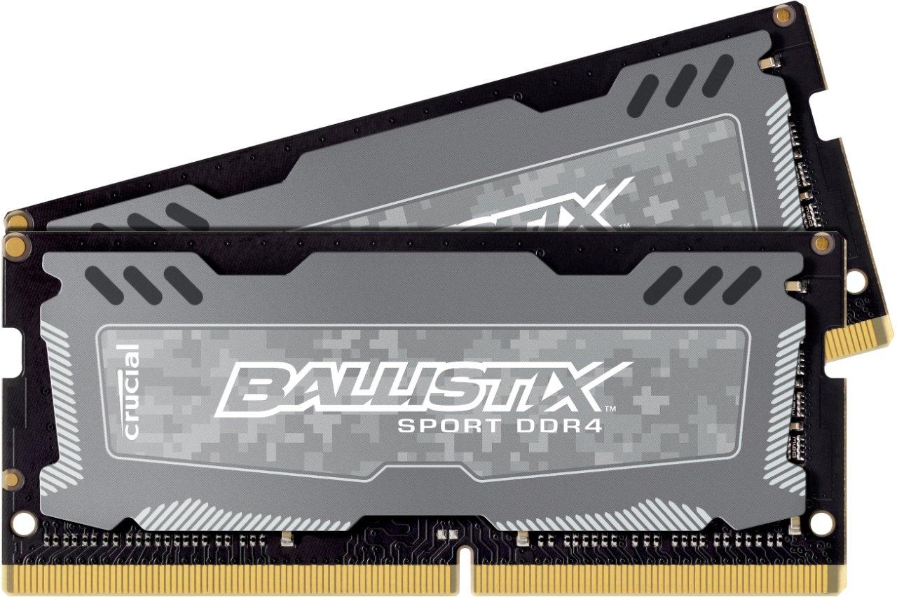 DDR4-SODIMM-RAM von Crucial nun auch als Ballistix-Sport-LT-Kit für Notebooks und Mini-PCs