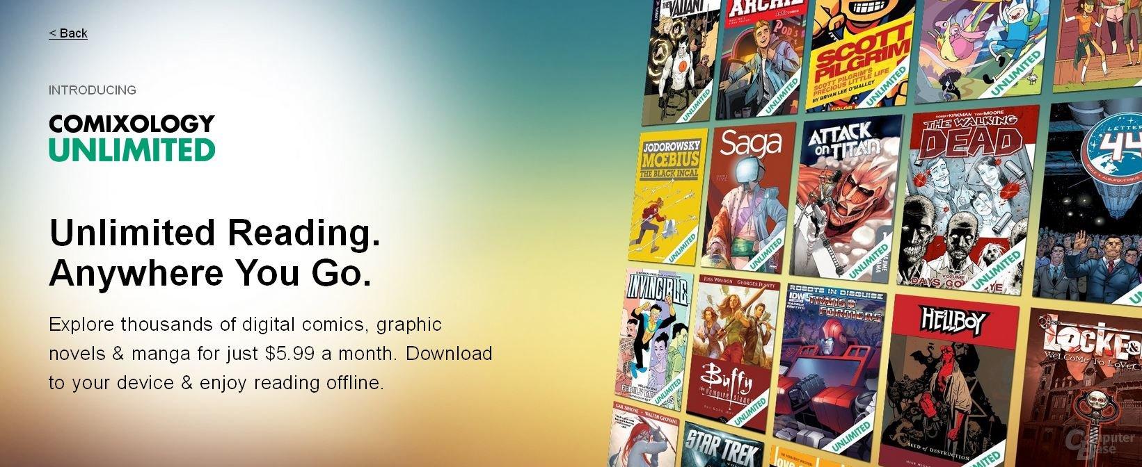 comiXology Unlimited  – Neue Comic-Flatrate ab sofort in den USA verfügbar
