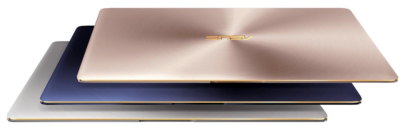 ASUS ZenBook 3 UX390 in Royal Blue, Rose Gold und Quartz Grey