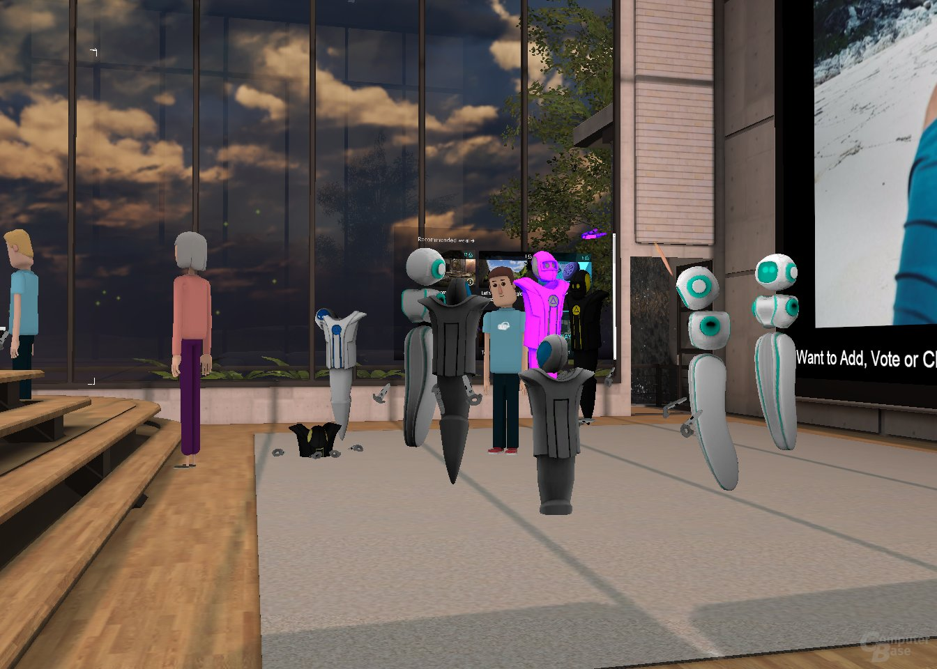 "AltSpaceVR – ""Hang-Out""-Raum"