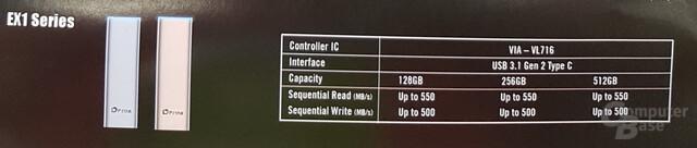 Technische Daten Plextor EX1