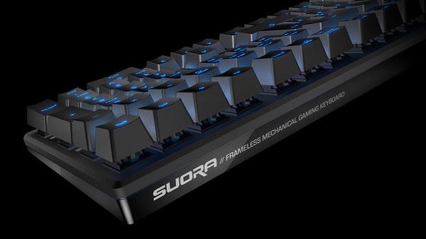 """Roccat Suora: """"Rahmenlose"""" mechanische Tastatur mit 109 Tasten"""