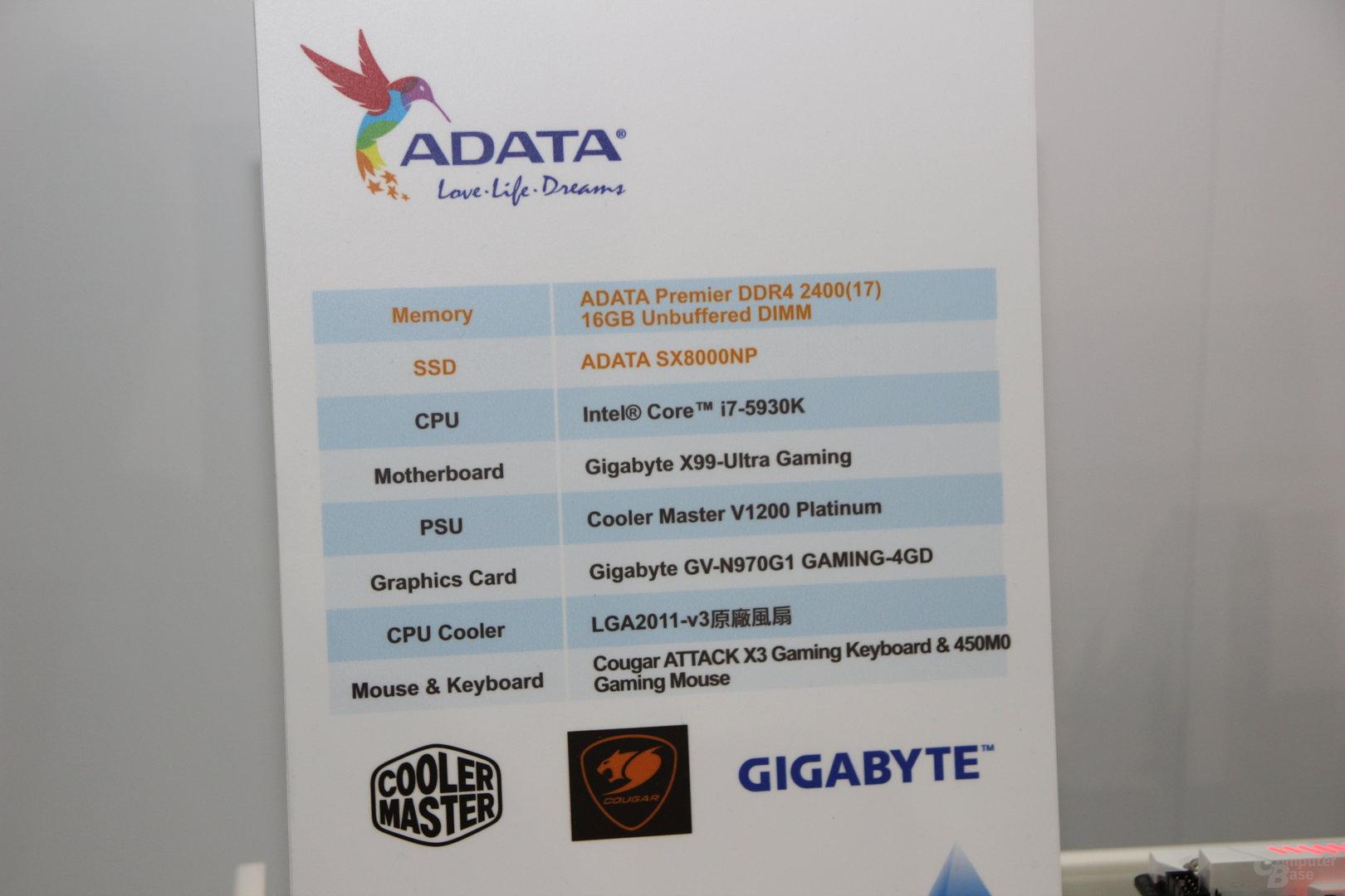 Testsystem der SX8000NP
