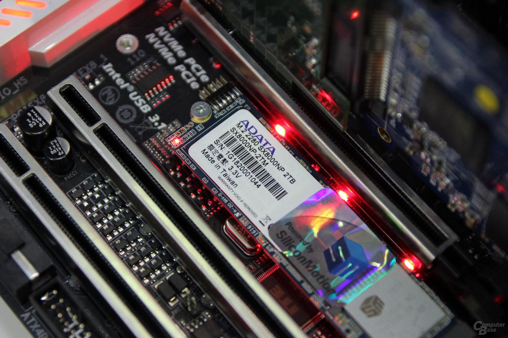 Adata SX8000NP als M.2-Modul mit 2 TByte