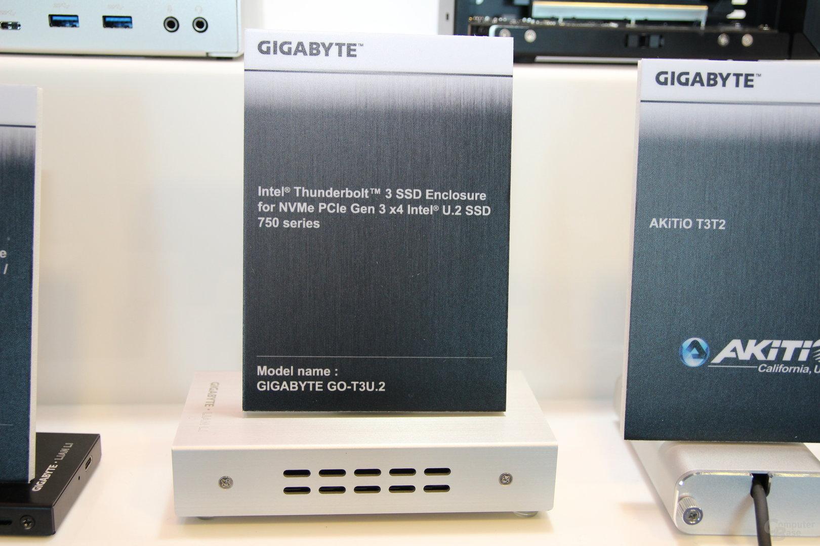 Für Intels 750 SSD gibt es ebenfalls ein Gehäuse mit Thunderbolt 3