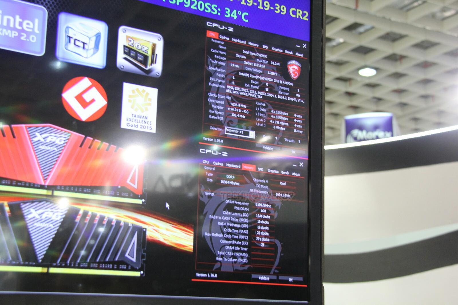 Adatas XPG-Z1-Serie als 16-GB-Kit bei 4.400 MHz mit CL17 Timings