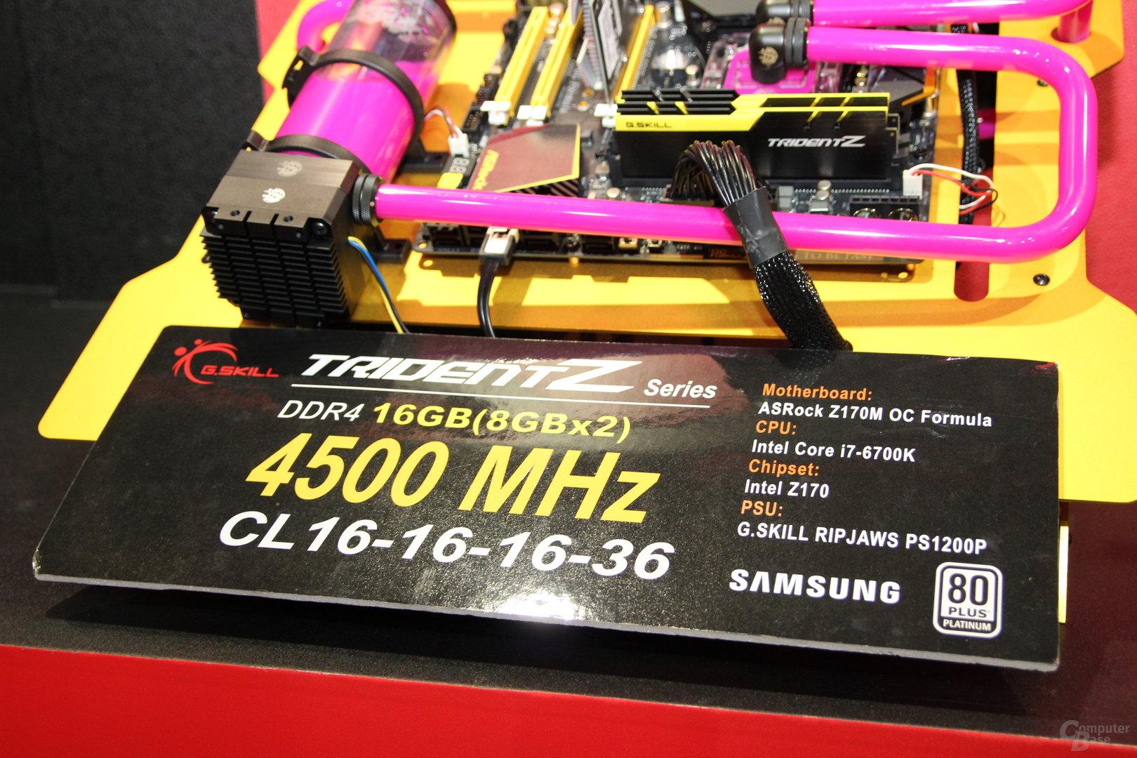 G.Skill Trident Z als serienreifes DDR4-DIMM-Kit mit 4.500 MHz bei CL16