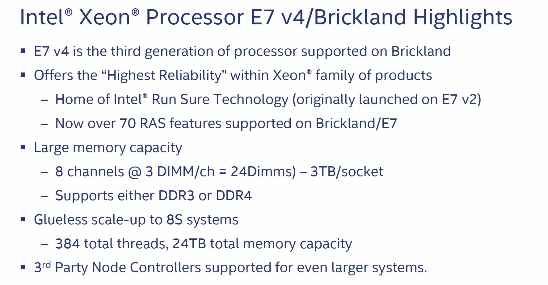 Highlights der Brickland-Plattform