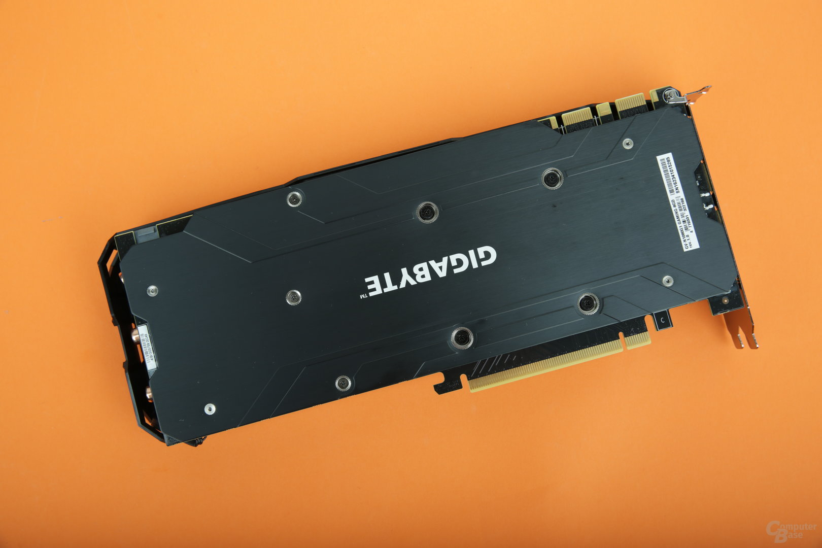 Gigabyte GeForce GTX 1080 G1 Gaming Backplate