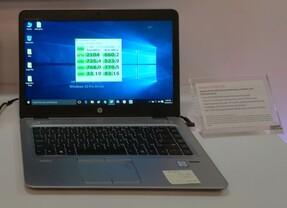 Die NVMe-SSD von SanDisk steckte in einem Notebook