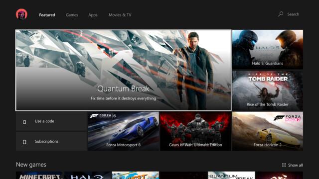 Überarbeiteter Xbox Store