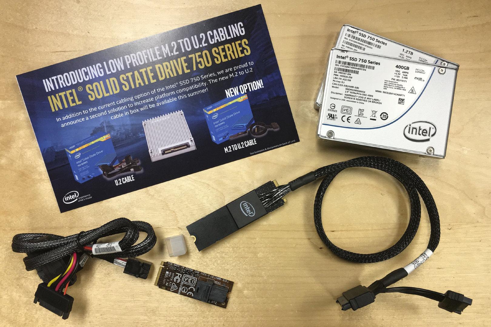Intels SSD 750 bekommt einen U.2-auf-M.2-Adapter