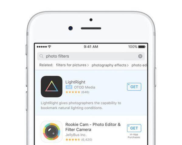 Beispiel für Werbung im App Store