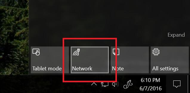 Neues Netzwerk-Icon in den Schnelleinstellungen