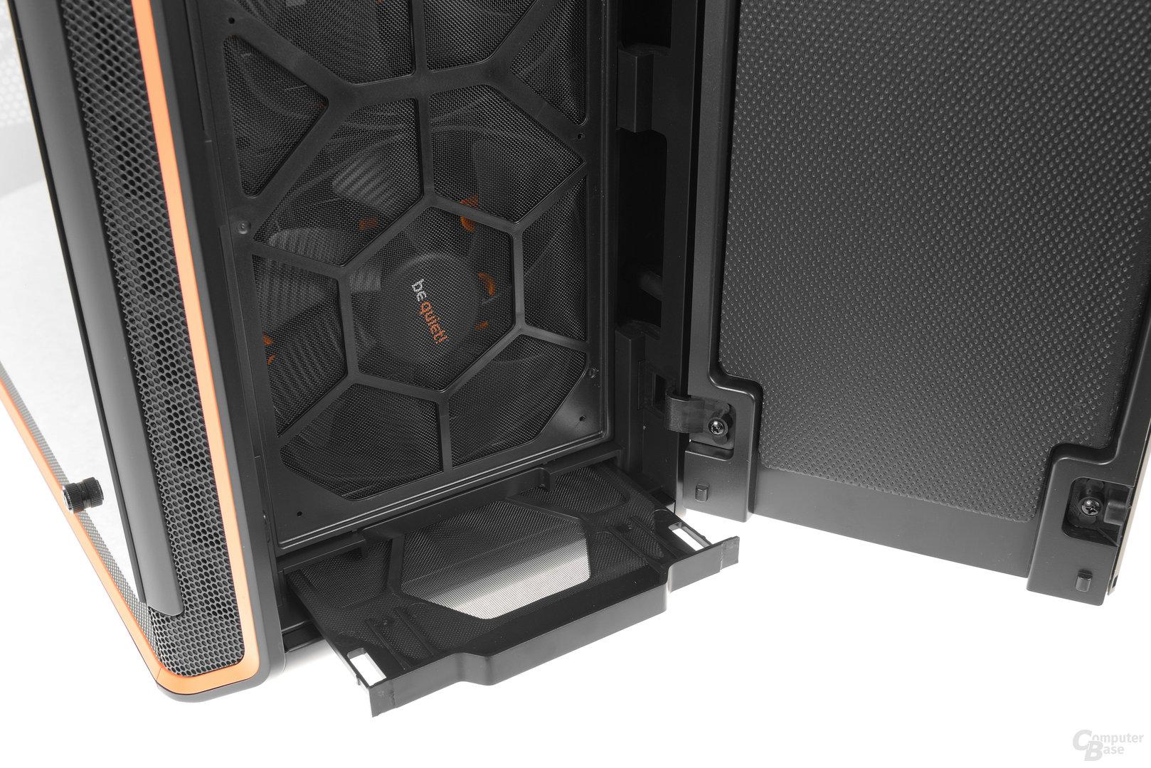 be quiet! Dark Base Pro 900 – Bodenstaubfilter lässt sich von vorne entnehmen