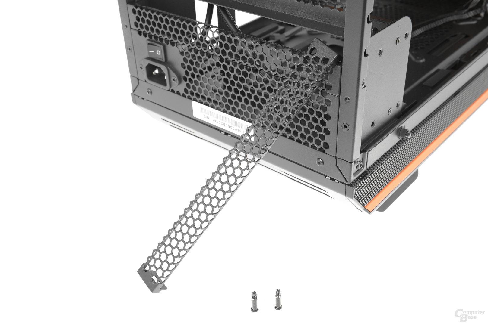 be quiet! Dark Base Pro 900 – Modulare Abdeckungen, falls der Mainboardtray in der Höhe verstellt wird