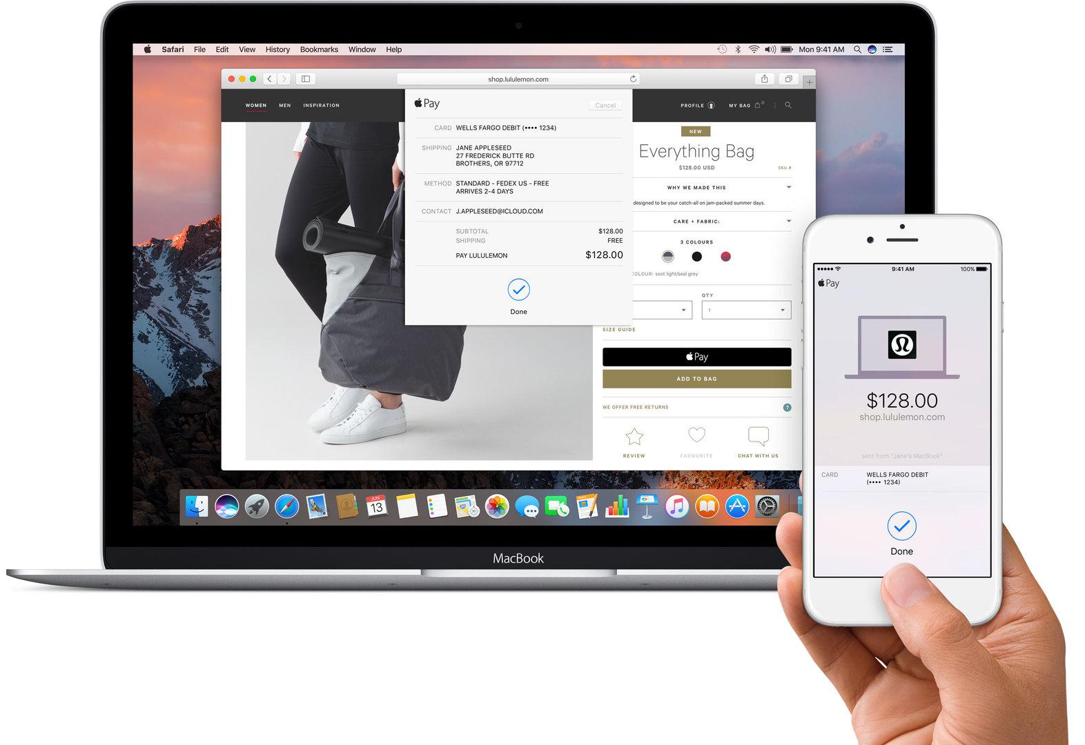 Apple Pay in macOS Sierra