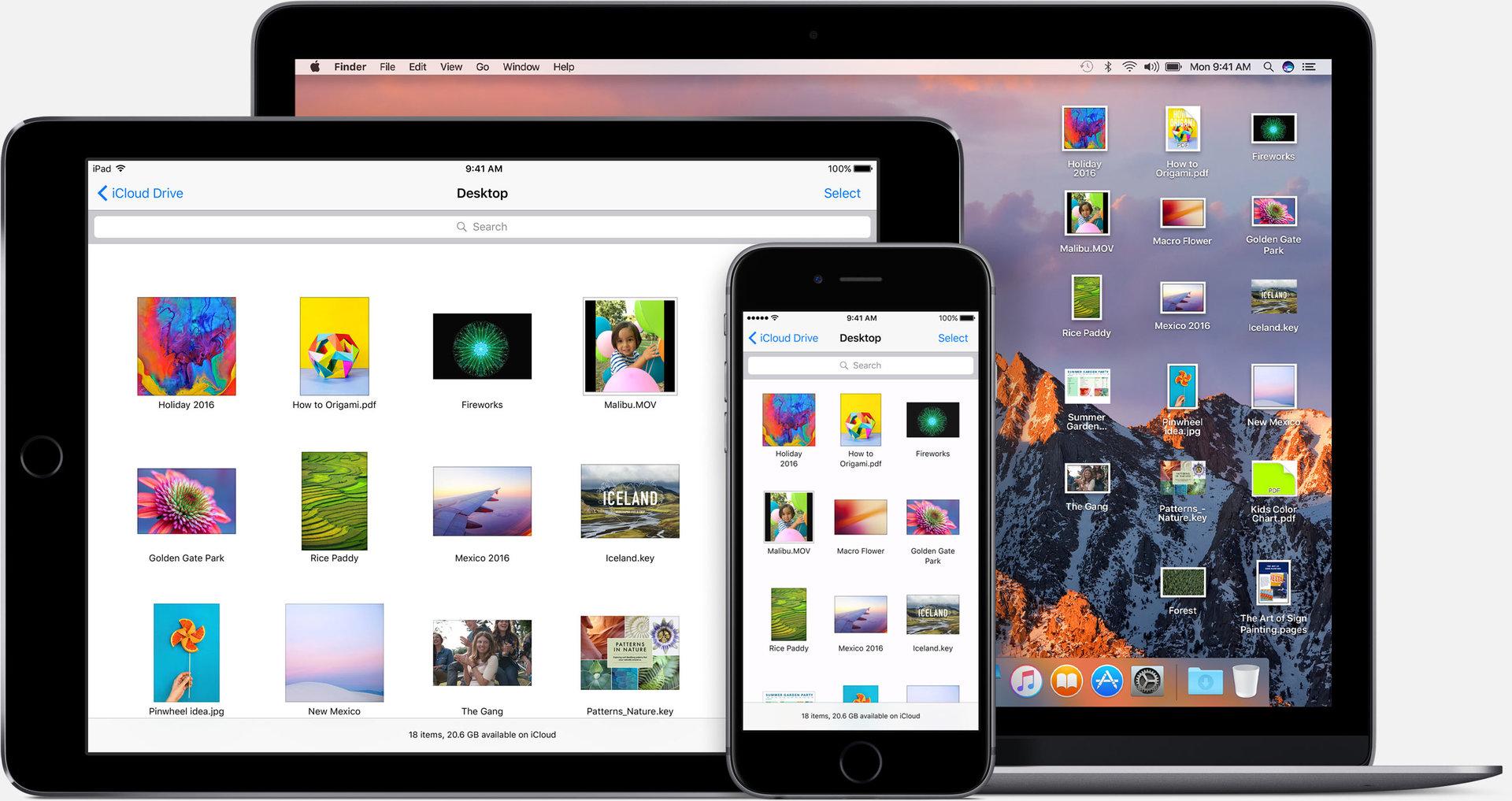 Desktop-Synchronisierung via iCloud