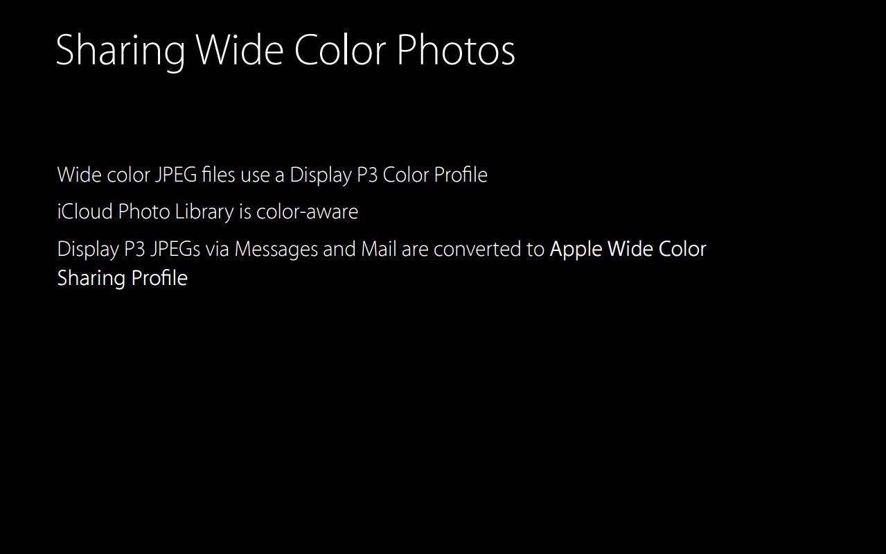 Apple Wide Color Sharing Profile
