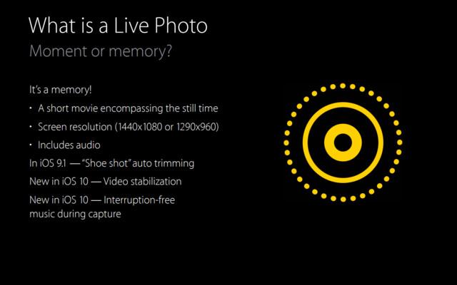 Neue Optionen für Live Photos