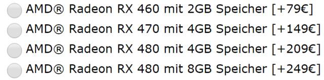 (Auf)Preise für Radeon RX 480, RX 470 und RX 460