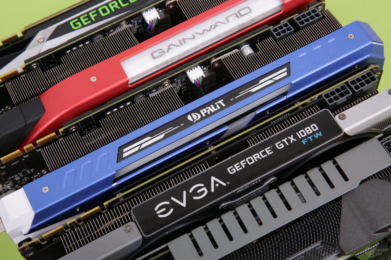 Acht GeForce GTX 1080 im Test