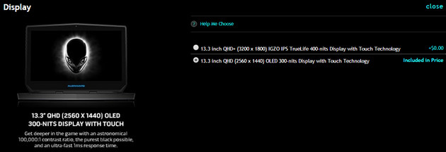 Alienware 13 R2 mit OLED-Option